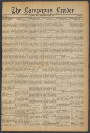 Primary view of object titled 'The Lampasas Leader (Lampasas, Tex.), Vol. [46], No. 19, Ed. 1 Friday, February 23, 1934'.