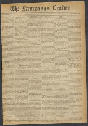 Primary view of object titled 'The Lampasas Leader (Lampasas, Tex.), Vol. 40, No. 44, Ed. 1 Friday, August 24, 1928'.