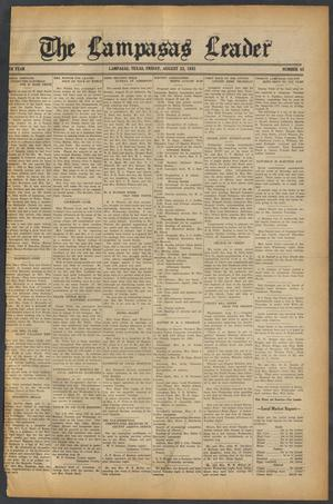Primary view of object titled 'The Lampasas Leader (Lampasas, Tex.), Vol. [47], No. 45, Ed. 1 Friday, August 23, 1935'.