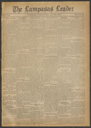 Primary view of object titled 'The Lampasas Leader (Lampasas, Tex.), Vol. 41, No. 40, Ed. 1 Friday, July 26, 1929'.