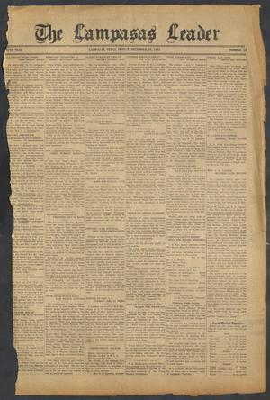 Primary view of object titled 'The Lampasas Leader (Lampasas, Tex.), Vol. 47, No. 10, Ed. 1 Friday, December 20, 1935'.