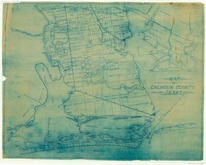 Primary view of object titled 'Map of Calhoun County, Texas'.