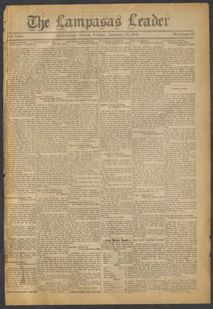 Primary view of object titled 'The Lampasas Leader (Lampasas, Tex.), Vol. [43], No. 13, Ed. 1 Friday, January 16, 1931'.