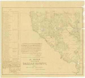 Primary view of object titled 'A Map of That Part of Dallas County Lying in Nacogdoches Land District'.