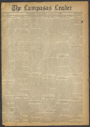 Primary view of object titled 'The Lampasas Leader (Lampasas, Tex.), Vol. 41, No. 12, Ed. 1 Friday, January 11, 1929'.