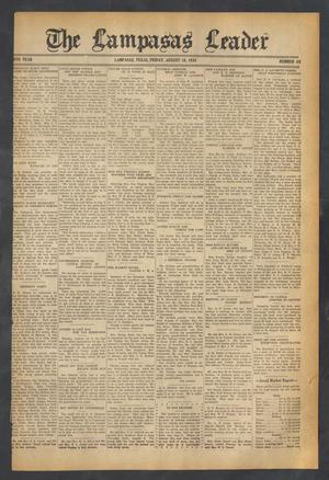 Primary view of object titled 'The Lampasas Leader (Lampasas, Tex.), Vol. [46], No. 43, Ed. 1 Friday, August 10, 1934'.