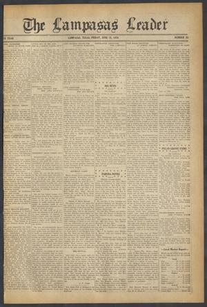 Primary view of object titled 'The Lampasas Leader (Lampasas, Tex.), Vol. [46], No. 35, Ed. 1 Friday, June 15, 1934'.