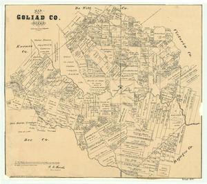 Primary view of object titled 'Map of Goliad County, Texas'.