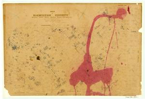 Primary view of object titled 'Map of Hamilton County'.