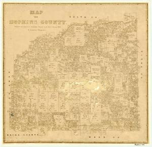 Primary view of Map of Hopkins County