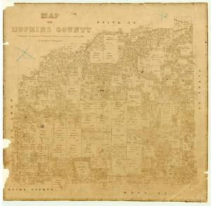 Primary view of object titled 'Map of Hopkins County'.