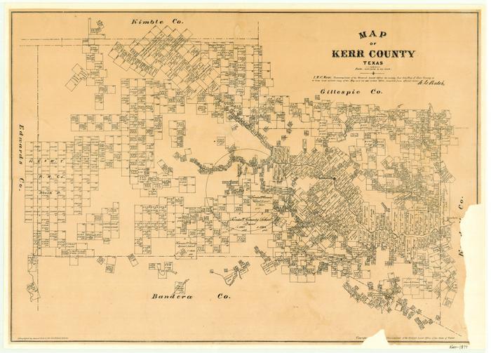 Kerr County Texas Map Map of Kerr County, Texas   The Portal to Texas History