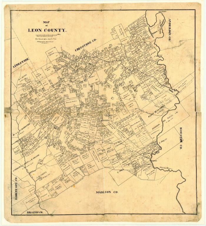 Map Of Leon County The Portal To Texas History