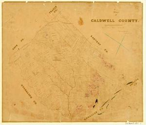 Primary view of Map of Caldwell County