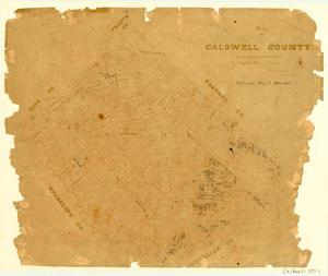 Primary view of object titled 'Map of Caldwell County'.