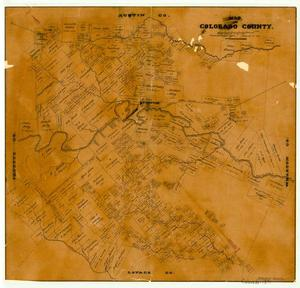 Primary view of object titled 'Map of Colorado County'.