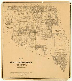 Primary view of object titled 'Map of Nacogdoches County.'.
