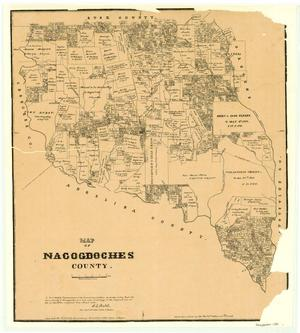 Primary view of object titled 'Map of Nacogdoches County'.