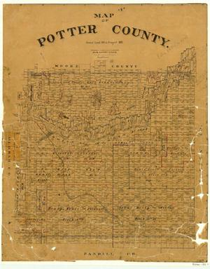 Map of Potter County