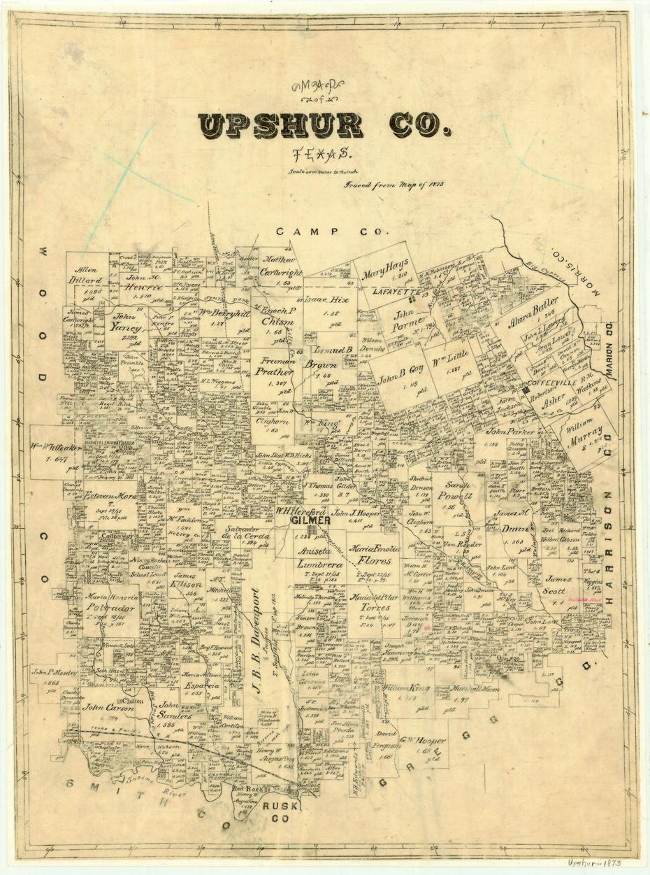 Map Of Upshur County  Texas