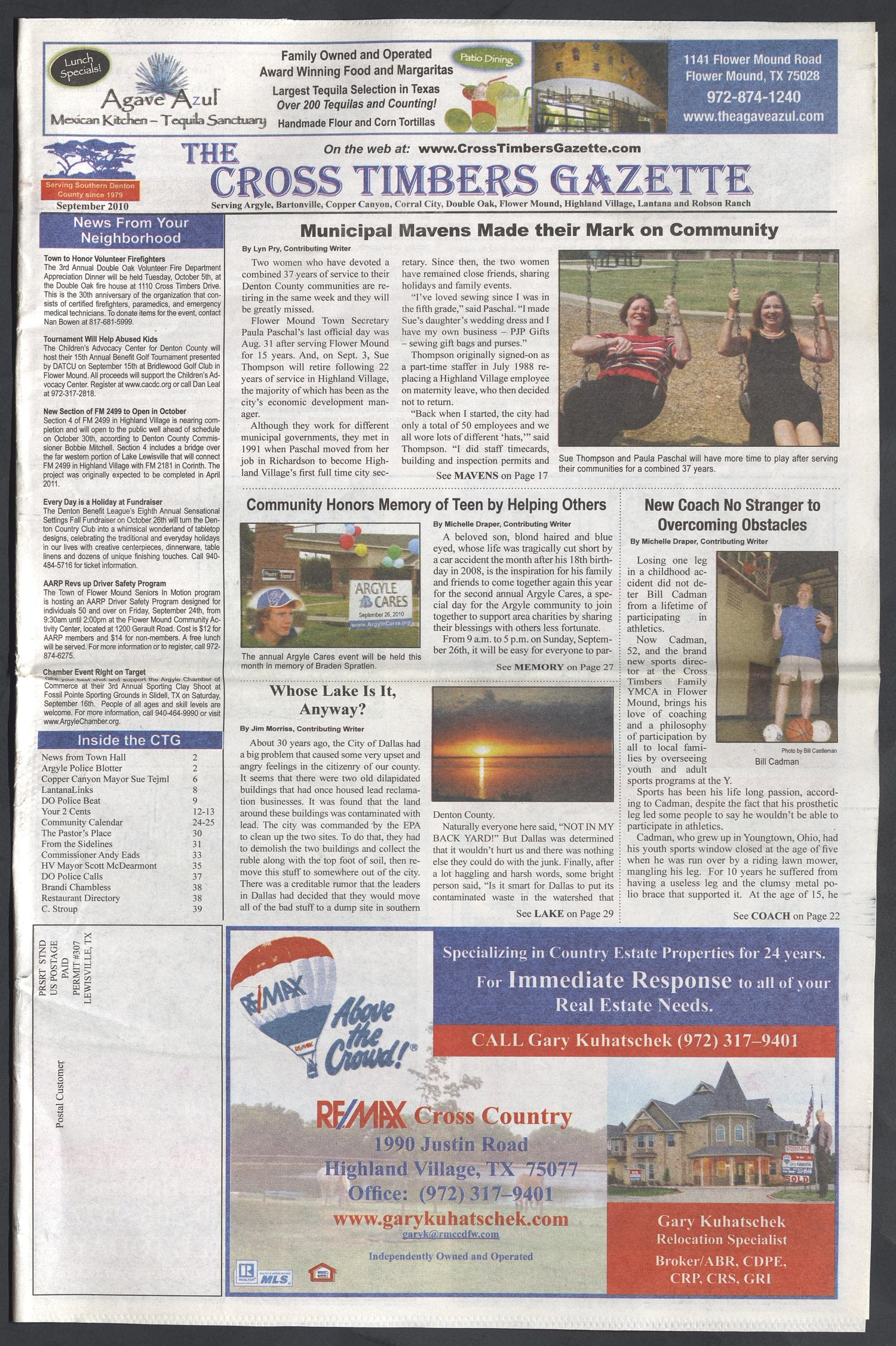 The Cross Timbers Gazette (Flower Mound, Tex ), Ed  1, September