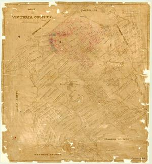 Primary view of object titled 'Map of Victoria County'.