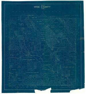 Primary view of object titled 'Map of Wise County, Texas'.