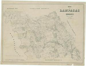 Primary view of object titled 'Map of Lampasas County'.