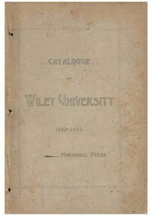 Primary view of object titled 'Yearbook of Wiley University, 1893'.
