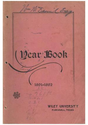 Yearbook of Wiley University, 1892