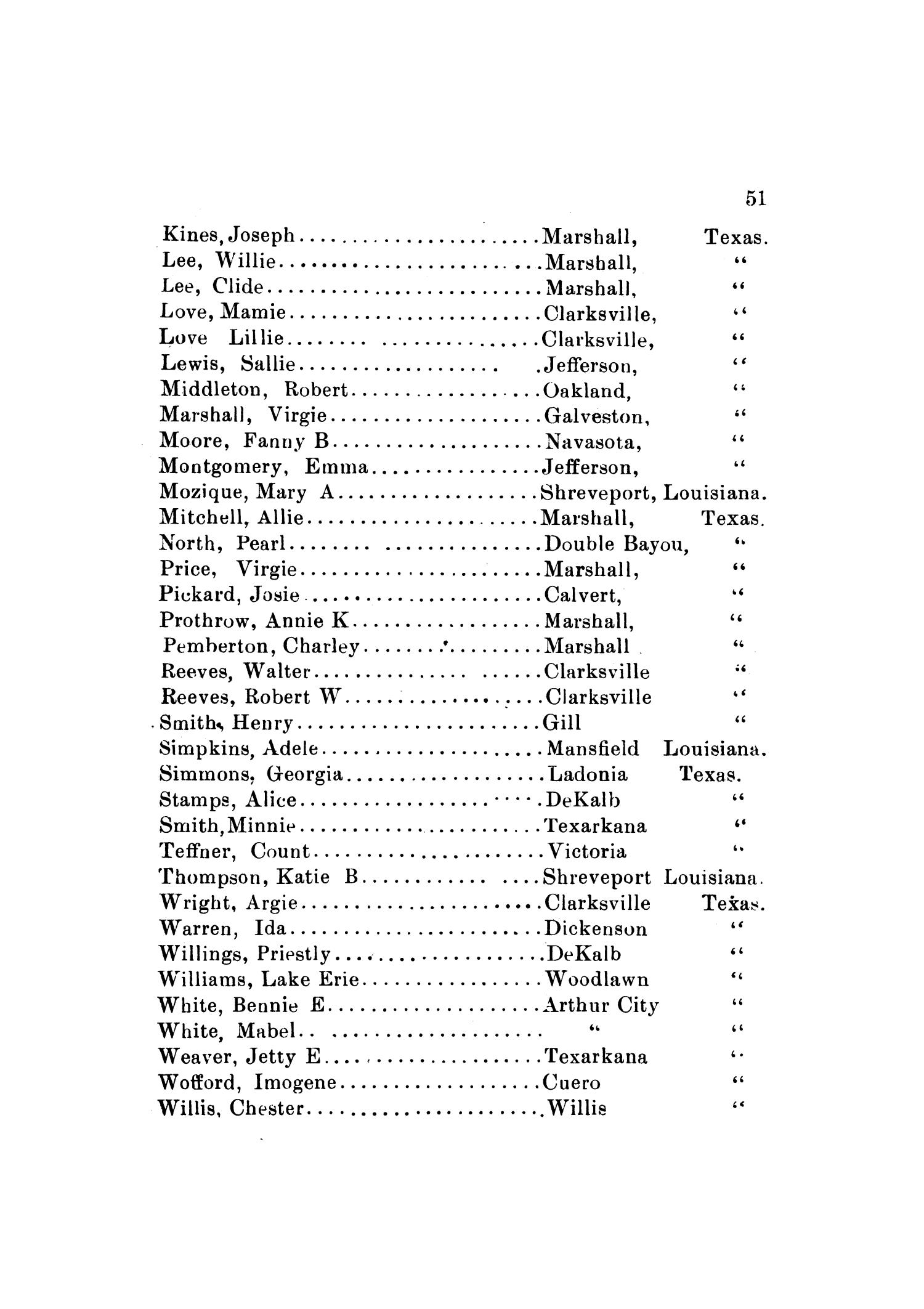 Yearbook of Wiley University, 1902                                                                                                      51