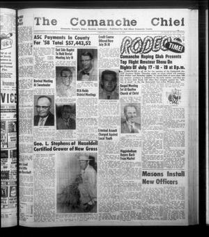 Primary view of object titled 'The Comanche Chief (Comanche, Tex.), Vol. 86, No. 3, Ed. 1 Friday, July 18, 1958'.