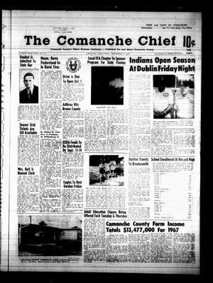 Primary view of object titled 'The Comanche Chief (Comanche, Tex.), Vol. 96, No. 13, Ed. 1 Friday, September 13, 1968'.