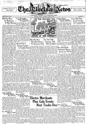 Primary view of object titled 'The Electra News (Electra, Tex.), Vol. 25, No. 26, Ed. 1 Thursday, March 3, 1932'.