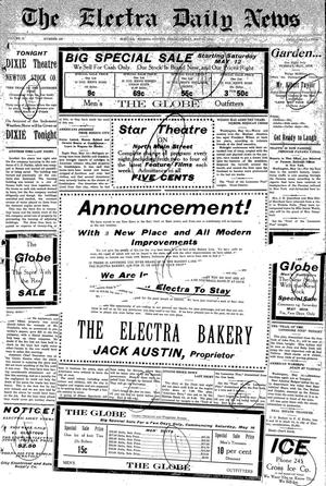 Primary view of object titled 'The Electra Daily News (Electra, Tex.), Vol. 2, No. 455, Ed. 1 Friday, May 15, 1914'.