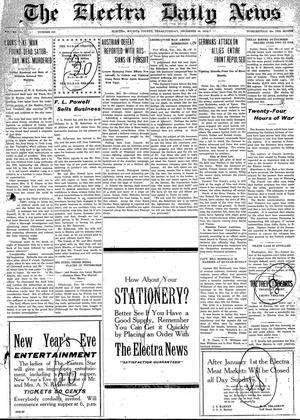 Primary view of object titled 'The Electra Daily News (Electra, Tex.), Vol. 3, No. 650, Ed. 1 Tuesday, December 29, 1914'.