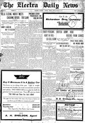 Primary view of object titled 'The Electra Daily News (Electra, Tex.), Vol. 2, No. 413, Ed. 1 Friday, March 27, 1914'.