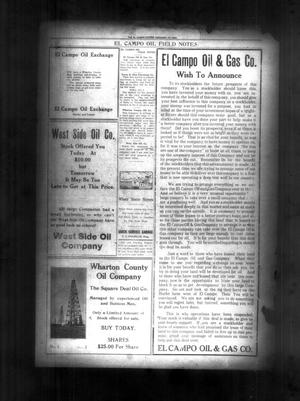 Primary view of object titled 'The El Campo Citizen (El Campo, Tex.), Vol. [19], No. [52], Ed. 1 Friday, February 27, 1920'.