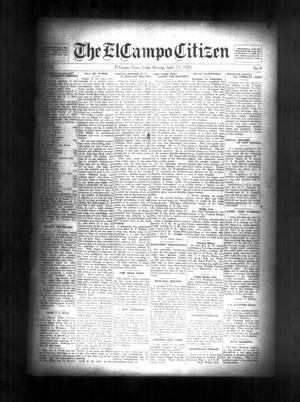 Primary view of object titled 'The El Campo Citizen (El Campo, Tex.), Vol. 20, No. 8, Ed. 1 Friday, April 23, 1920'.