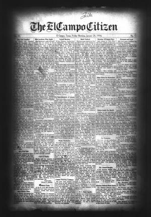 Primary view of object titled 'The El Campo Citizen (El Campo, Tex.), Vol. 15, No. 51, Ed. 1 Friday, January 28, 1916'.