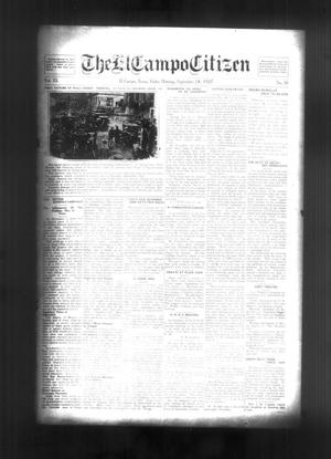 Primary view of object titled 'The El Campo Citizen (El Campo, Tex.), Vol. 20, No. 30, Ed. 1 Friday, September 24, 1920'.