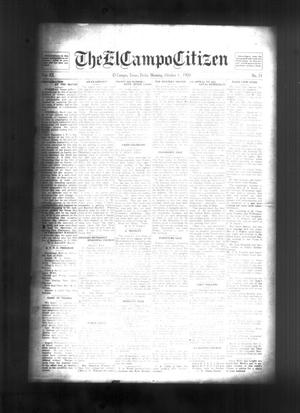Primary view of object titled 'The El Campo Citizen (El Campo, Tex.), Vol. 20, No. 31, Ed. 1 Friday, October 1, 1920'.