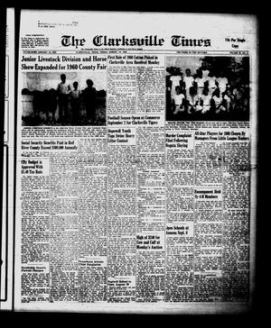 Primary view of object titled 'The Clarksville Times (Clarksville, Tex.), Vol. 88, No. 31, Ed. 1 Friday, August 19, 1960'.