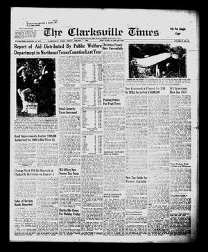 Primary view of object titled 'The Clarksville Times (Clarksville, Tex.), Vol. 87, No. 50, Ed. 1 Friday, January 1, 1960'.