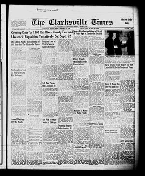 Primary view of object titled 'The Clarksville Times (Clarksville, Tex.), Vol. 88, No. 1, Ed. 1 Friday, January 22, 1960'.