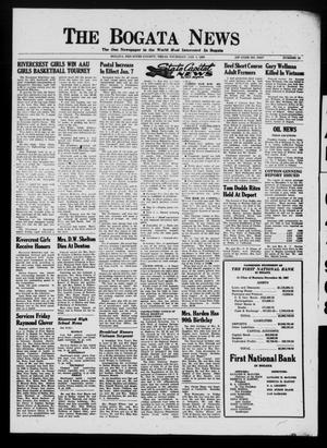 Primary view of object titled 'The Bogata News (Bogata, Tex.), Vol. [58], No. 13, Ed. 1 Thursday, January 4, 1968'.