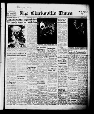 Primary view of object titled 'The Clarksville Times (Clarksville, Tex.), Vol. 88, No. 2, Ed. 1 Friday, January 29, 1960'.