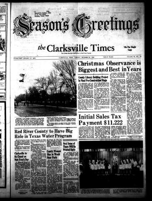 Primary view of object titled 'The Clarksville Times (Clarksville, Tex.), Vol. 96, No. 50, Ed. 1 Tuesday, December 24, 1968'.