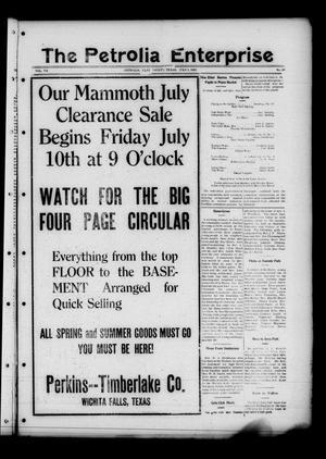 The Petrolia Enterprise (Petrolia, Tex.), Vol. 20, No. 28, Ed. 1 Thursday, July 9, 1925