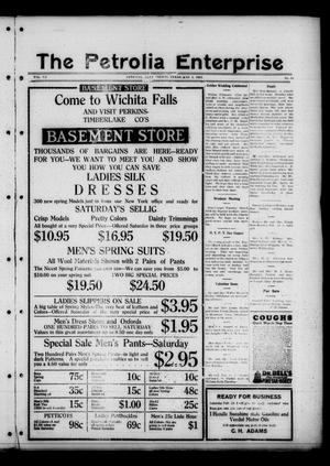 The Petrolia Enterprise (Petrolia, Tex.), Vol. 20, No. 10, Ed. 1 Thursday, March 5, 1925